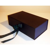 Black and blue two tone gift box